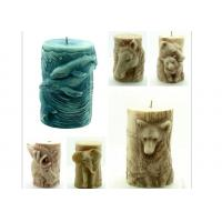 Buy cheap Animal Stereo Cylindrical Silicone Candle Molds , Bear / Dolphin / Horse Salt Carving Mould from Wholesalers