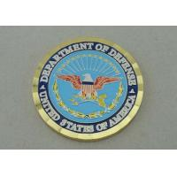 Buy cheap Department Of Defense Personalized Coins With Box Packing And Diamond Cut Edge from wholesalers