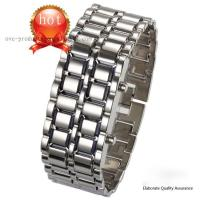 Buy cheap 2011 Lava style hot iron samurai Red/Blue light metal LED watch,fancy lava LED watch from wholesalers