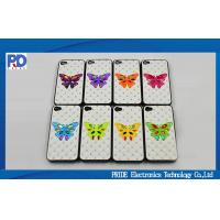 China Butterfly Mobile Phone Protective Cases ,  iPhone 5s Crystal Leather Cover on sale