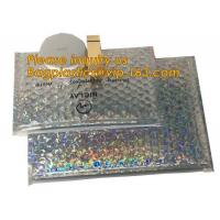 Buy cheap air mail metallic holographi rose gold bubble padded mailer / Ziplockk bubble bag/ slider bubble bag,Holographic Factory from wholesalers