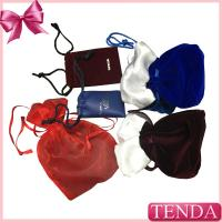 Buy cheap Wholesale Leather Velvet Satin Flocking Suede Organza Linen Fabric Nylon Non-voven Drawstring Jewellery Jewelry Pouch from wholesalers