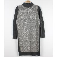 Buy cheap Wool Long Ladies Sweater Dresses With Lace Front Classic Clothes from wholesalers