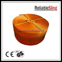 Buy cheap 10 Ton Orange Polyester Webbing for lifting , polyester sling webbing from wholesalers
