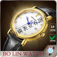 Buy cheap Modern Durable Gold Chronograph Watch , Fashion Slim Pure Gold Watches For Men from wholesalers