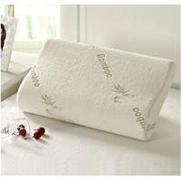 Buy cheap 40% bamboo fiber, 60% polyester knitted fabric cover wedge contour memory foam pillow, latex innovations pillow from wholesalers