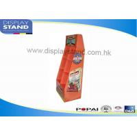Buy cheap Recycled Cardboard Floor Display Stand / Shop Shel Display with Pocket from wholesalers