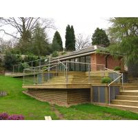 Buy cheap Stainless steel  tempered glass balustrade/ topless post glass railing from wholesalers