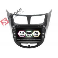 Quality Rockchip PX3 7 Inch 2 Din Android Car DVD Player For Hyundai Verna / Accent / Solaris for sale