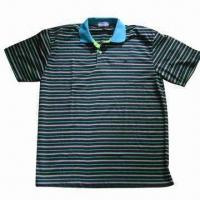 Buy cheap Men's Polo Shirts in Stock, Made of Polyester and Cotton from wholesalers
