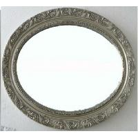Buy cheap antique silver oval framed bathroom mirror,wood oval wall mirror product