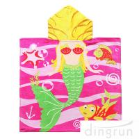 Buy cheap Full Printing Animal Design Hooded Poncho Towels For Beach / Pool from wholesalers