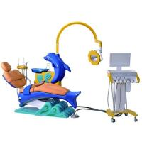 Buy cheap Children Kids Dental Chair Unit Cute Dolphin Blue Cartoon Design With LED Operation Lamp from wholesalers