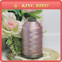 Buy cheap Space Dyed Handmade Polyetser Embroidery Bobbin Thread Yarn for Weaving from wholesalers