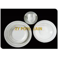 Buy cheap Porcelain 20 Piece Silver Line  Round Dinnerware Set Service For 4 from wholesalers