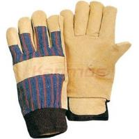 Buy cheap 11 inch full jersey lining Yellow Pig Grain Driving Winter Leather Gloves 22304 from wholesalers