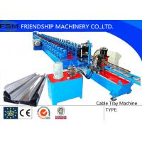 Buy cheap 2.5 m/min - 5 m/min Punching Speed Cable Tray Roll Form Machine With Automatic Stacker from wholesalers