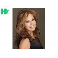 Ladies Brown Synthetic Hair Wigs Heat Resistant Fiber No Sheeding