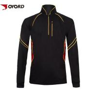 Buy cheap Long Sleeve Custom Fishing Jerseys Stand Collar Zipper Front Dry Fit Polyester Material from wholesalers