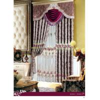 Buy cheap High-Grade Embroidery Curtain Luxury Ready Made Curtains , Custom Blackout Window Curtain product