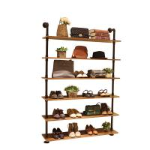 Buy cheap Wood / Metal Indoor Shoe Rack Display Shelves Modern 6 Layers Store Fittings from wholesalers