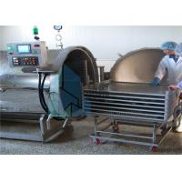 Buy cheap 4 - Wheel Trolley Sterilization Baskets Stainless Steel For Canned Meat Production Line from wholesalers