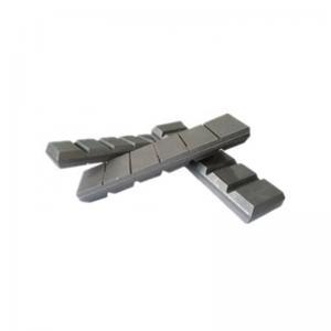 Buy cheap 65HRC 240*90*23mm Laminated White Iron CB90 Chocky Bars product
