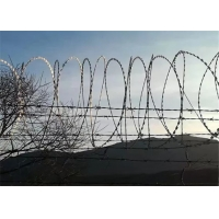 Buy cheap 10M Length Cover HDG 23 Loops Razor Wire Concertina from wholesalers