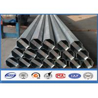 Buy cheap 36.9m / s Ant i -wind Capacity galvanized metal pipe , steel transmission pole With Galvanization min 86 microns from wholesalers