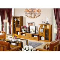 Buy cheap modern Zingana solid wood comibined cabinet TV stand furniture from wholesalers