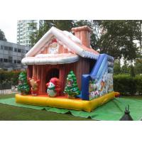 Buy cheap Cuatomized 0.55mm PVC Merry Christmas Inflatable Santa Claus Bouncy Castle For Kids Play from wholesalers
