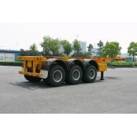 Buy cheap ISO Skeletal or Flatbed type Tank Container Trailer Chassis 40ft / Semi-Trailer from wholesalers