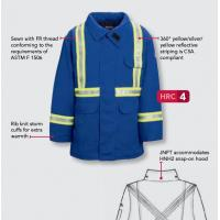Buy cheap aramid  FR parka with reflective  trim nomex IIIA  meet NFPA2112 from wholesalers