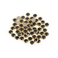 Buy cheap Bright Hotfix Glass Rhinestones , 10mm Decorative Rhinestones With Rim product