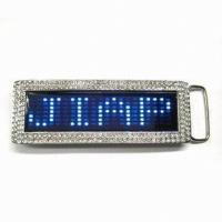 Buy cheap Blue color Scrolling LED message belt buckle from wholesalers