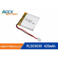Buy cheap 503030 3.7V 420mAh Small battery Lipo battery lithium polymer battery for digital devices,bluetooth speaker from wholesalers