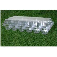 Buy cheap 18 Cavities Empty Egg Cartons / Clear Plastic Egg Containers Unbreakable from wholesalers