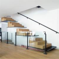 Buy cheap Contemporary wood steps to concrete porch floating staircase regulations from wholesalers