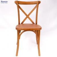 Buy cheap Wholesale Cheap Solid Birch Restaurant Stackable Cross Back Chair from wholesalers
