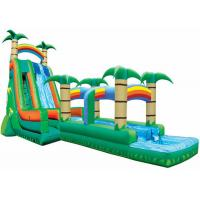 Buy cheap Palm Tree Bouncy Castle Water Slide Practical Workmanship Long Durability from wholesalers