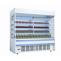 Buy cheap White Self Contained Open Display Fridge For Drinks / Milk 2m Large Capacity from wholesalers