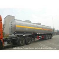 Buy cheap Liquid Alkali Tanker Trailer With Stainless Steel Polished Tank For Sodium Hydroxide from wholesalers
