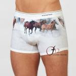 Buy cheap Mens 3d horse animal print underwear premium stretch cotton boxer briefs customise second skin white underwear for creat from wholesalers
