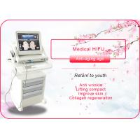 Buy cheap Portable / Vertical HIFU Machine Anti Wrinkle / Face Lift Machine 110-240V 50/60Hz from wholesalers