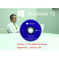 Buy cheap English Language PC Computer Software Win 10 Pro 64 Bit Genuine Product Key Full Version from wholesalers