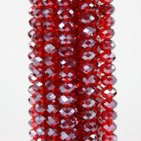 """Buy cheap 8x5mm Dark Red Crystal Gemstone Faceted Rondelle Loose Beads 16"""" product"""