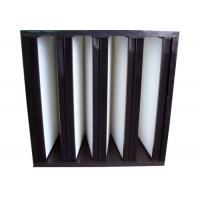 Buy cheap Secondary V Cell Industrial Air Filters Fiberglass Air Filter With ABS Plastic Frame from wholesalers