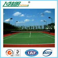 Buy cheap Indoor Sport Court Flooring / Shock Absorbing Elastic Flooring Fastest Tennis Court Surface from wholesalers