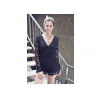 Buy cheap Sweet Night Long Sleeve Lace Sexy Women Jumpsuits With Surplice Top from wholesalers
