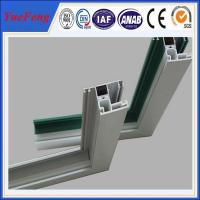 China Aluminium windows with mosquito net in china, frame for double glass aluminium windows on sale